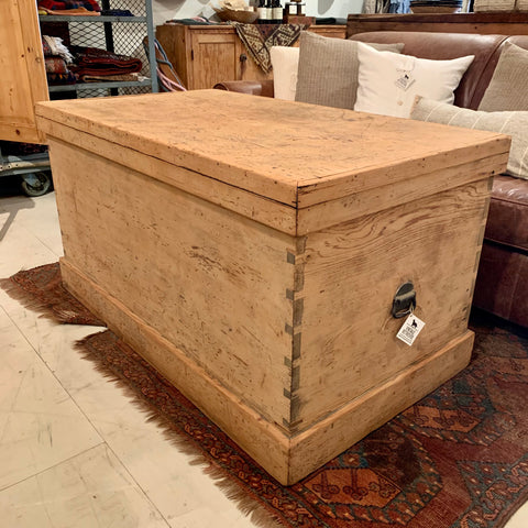 Large Antique Pine Chest