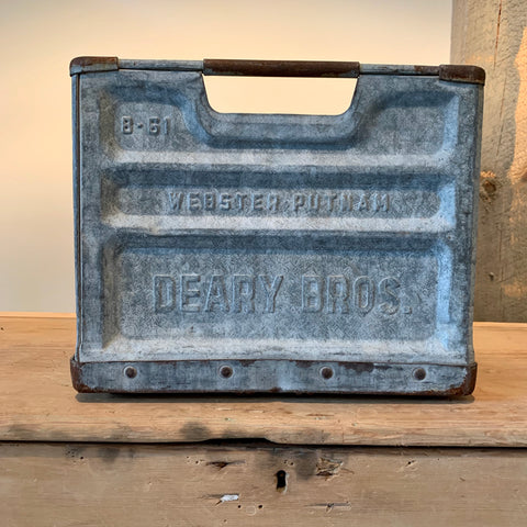 Vintage Galvanized Dairy Crate