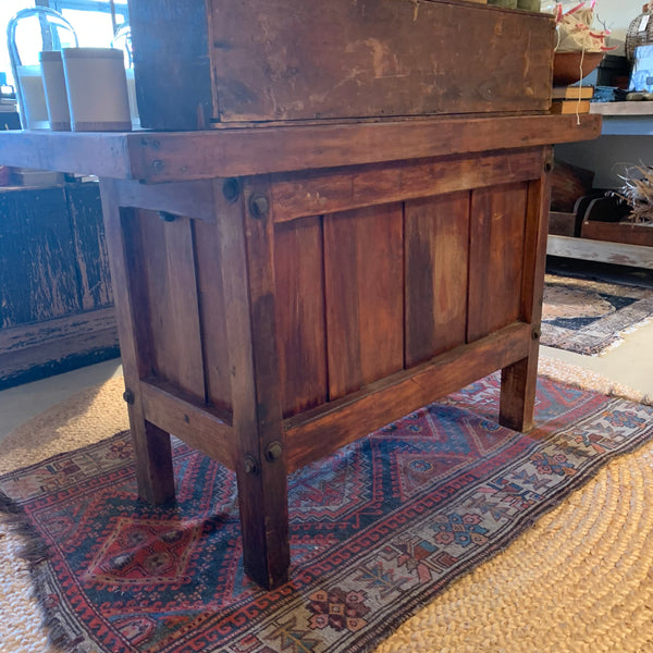 Vintage Workbench with Vise