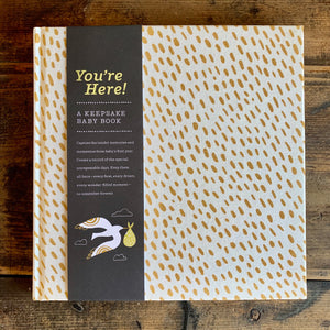 You're Here - A Keepsake Baby Book