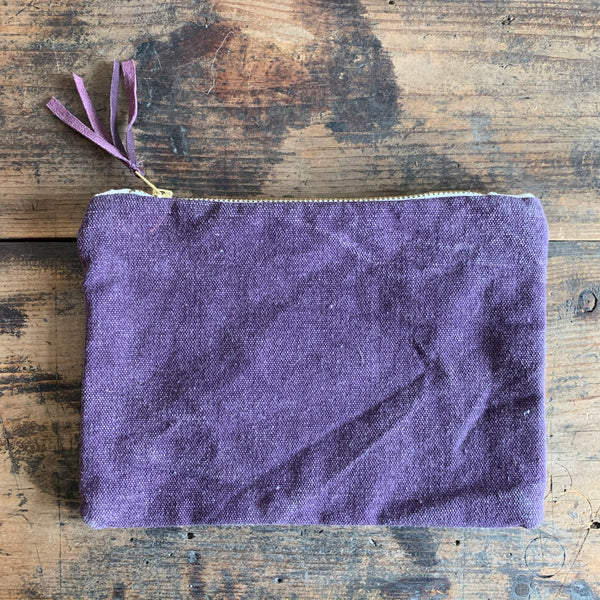 Canvas Zip Pouch - Various