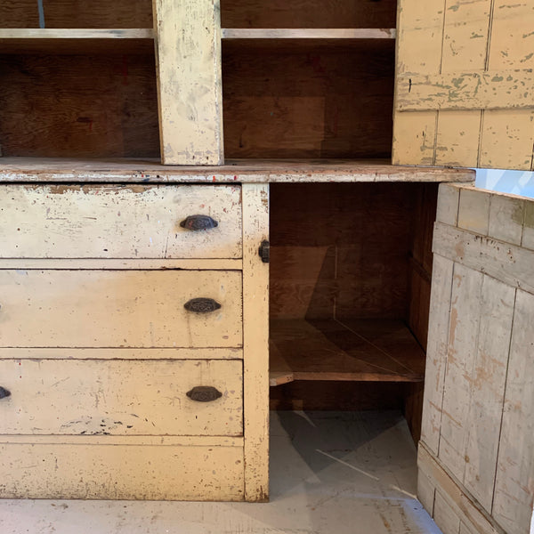 Antique Yellow Cupboard