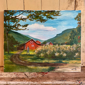 Barn Oil on Canvas Painting
