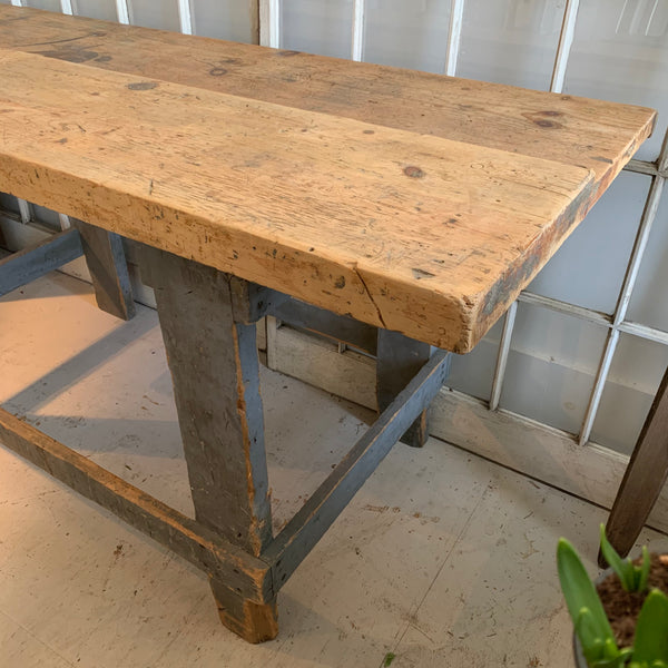 Vintage Blue/Gray Workbench