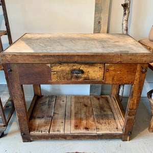 Antique Marble Top Printing Table