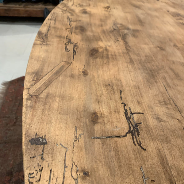 Antique Oval Pine Table