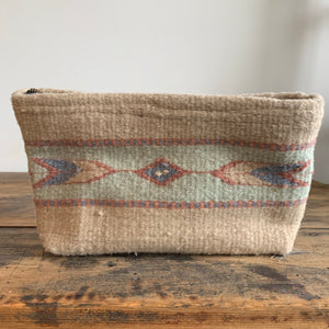 Hand Dyed, Handwoven Wool Clutch - Sand