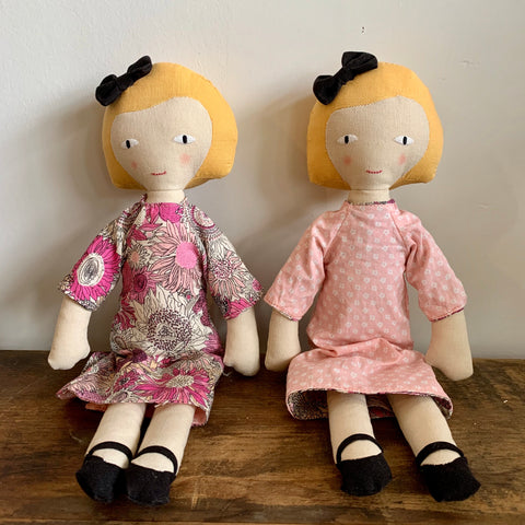 Fabric Doll with Reversible Dress - Light Hair