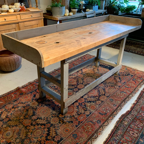Vintage Gray Workbench