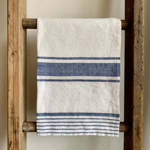 Linen Tea Towel - Provence Blue