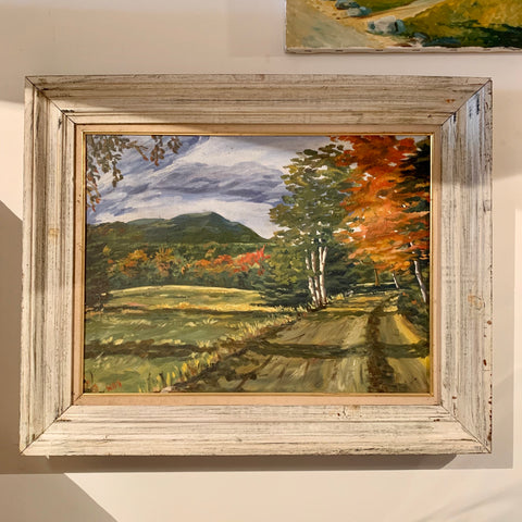 Vintage Framed Foliage Oil on Canvas Painting