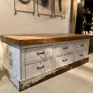 Vintage 6-Drawer Workbench
