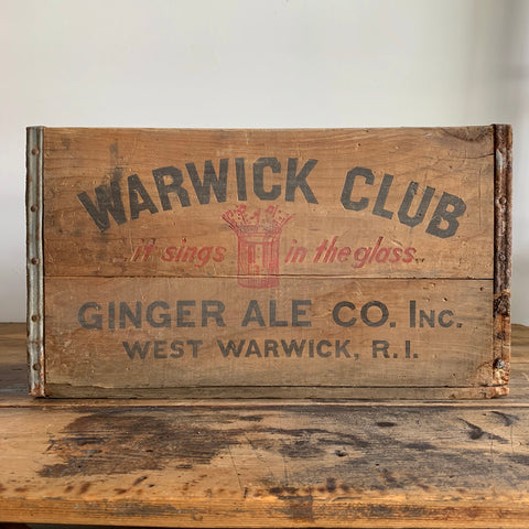 Warwick Club Ginger Ale Crate
