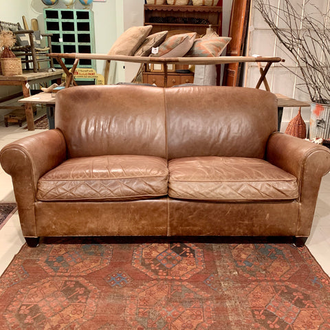 Crate and Barrel Leather Sofa