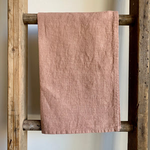 Washed Linen Tea Towel - Cafe Creme