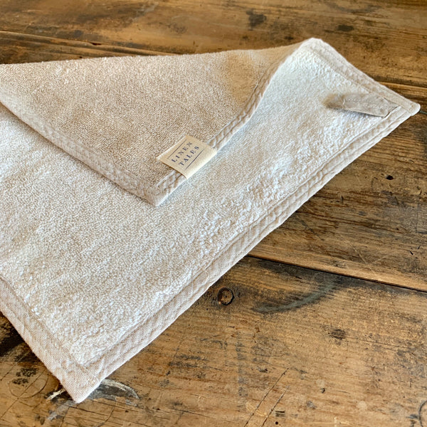 Natural Washed Linen Terry Towel