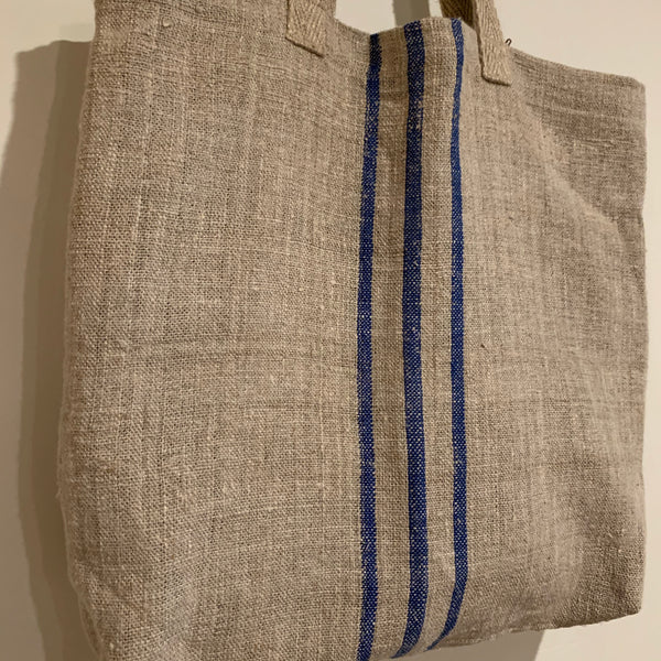 Antique Handwoven Linen Tote
