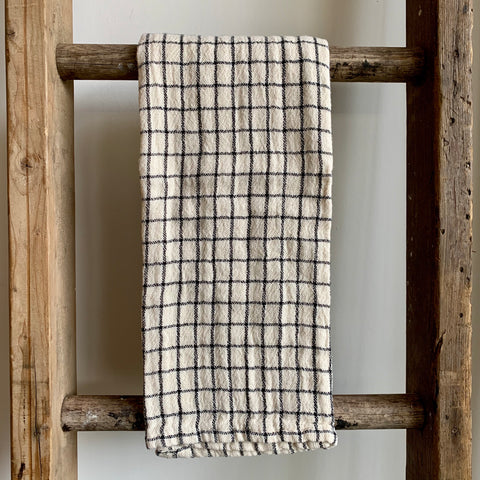 Windowpane Cotton Tea Towel