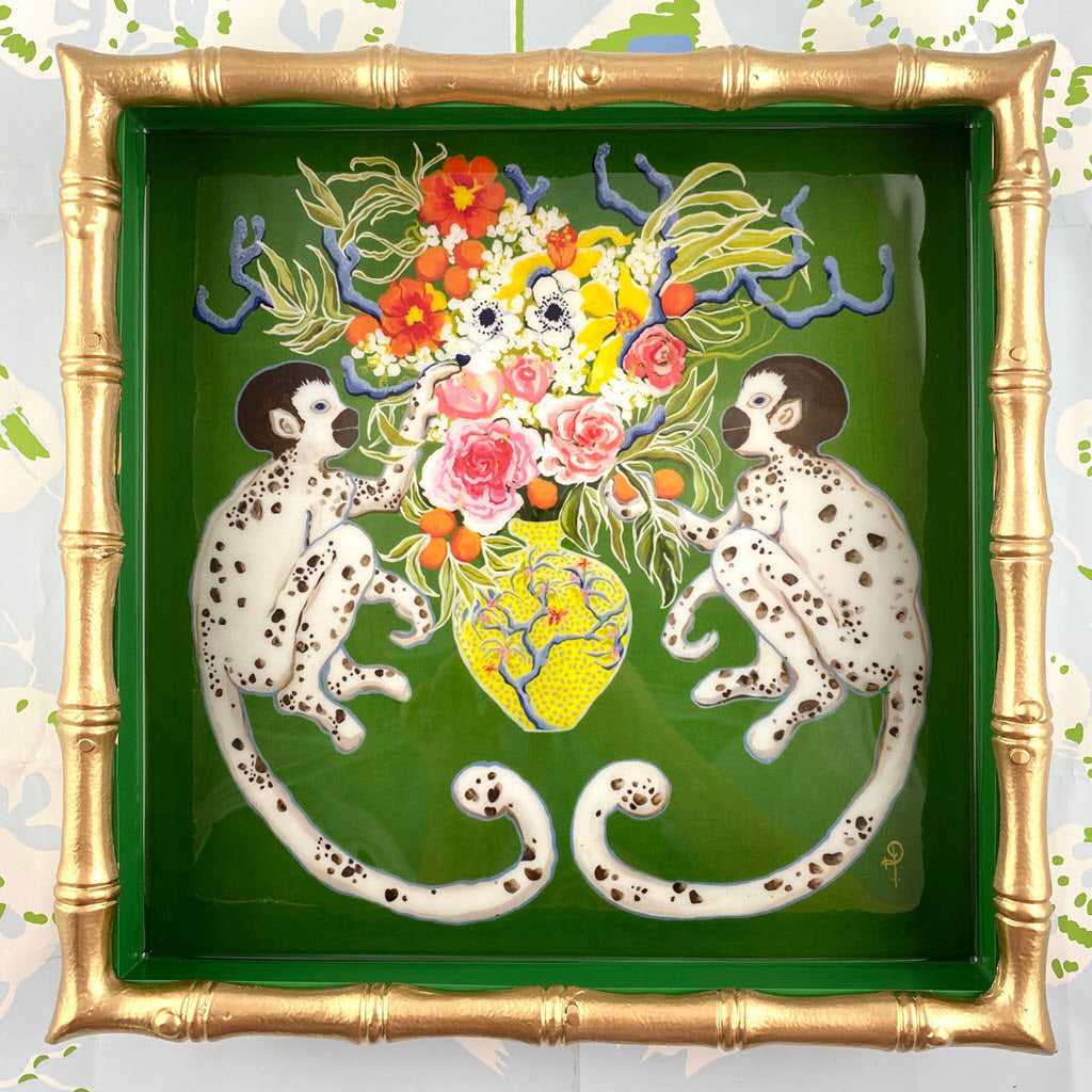 "Paige Gemmel Monkeying Around Tray 12"" x 12"""
