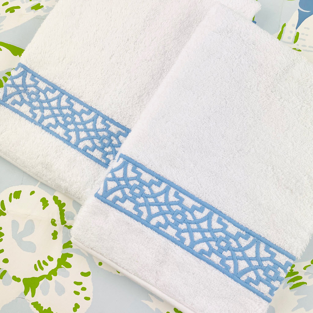 Chinois Terry Guest Towels