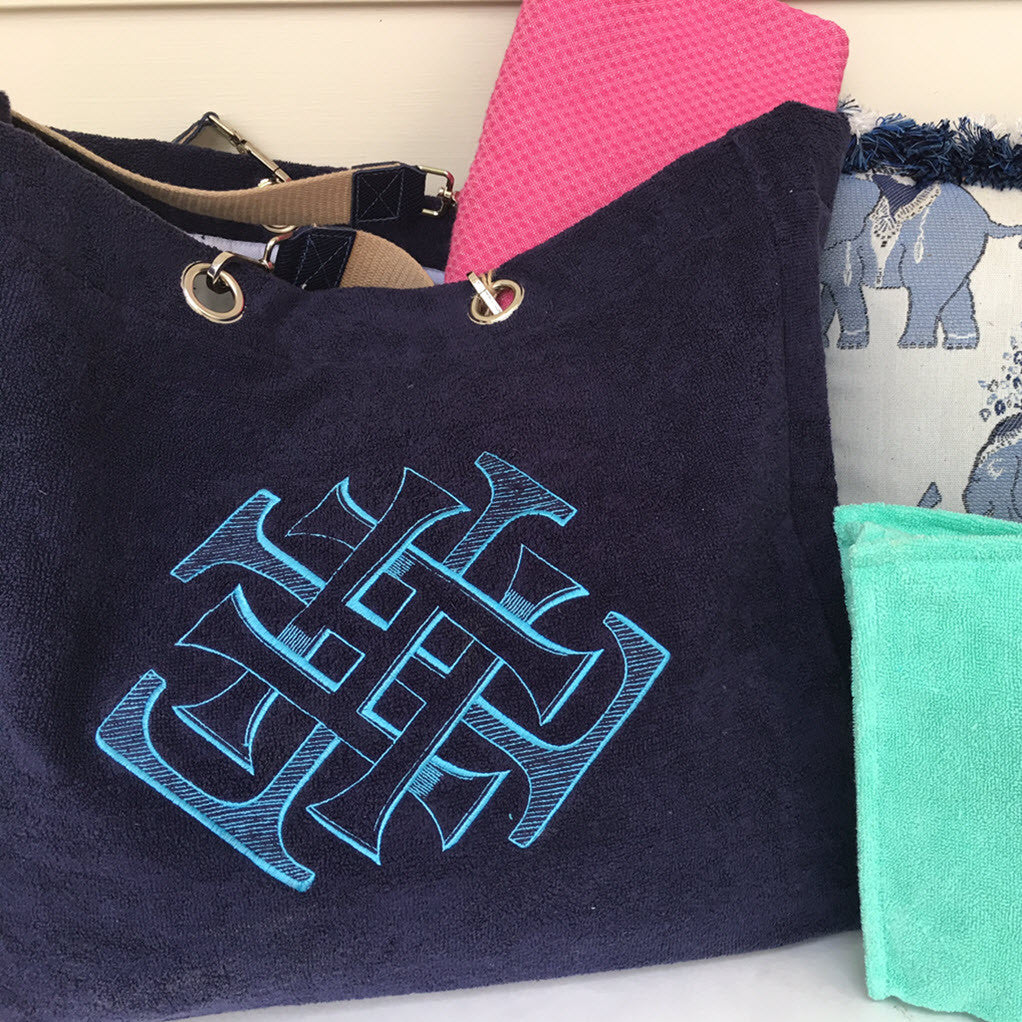 Embroidered Terry Tote (7 Colors)