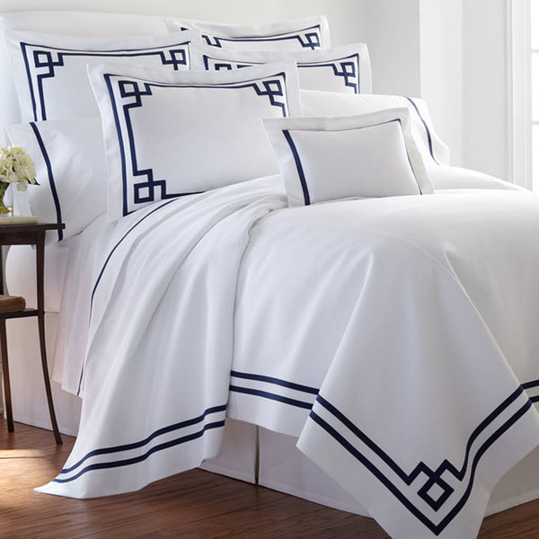 Fretwork Piped Bedding Collection