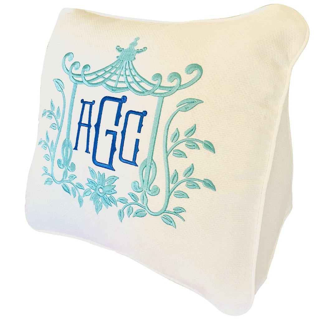 White Pique Wedge Pillow