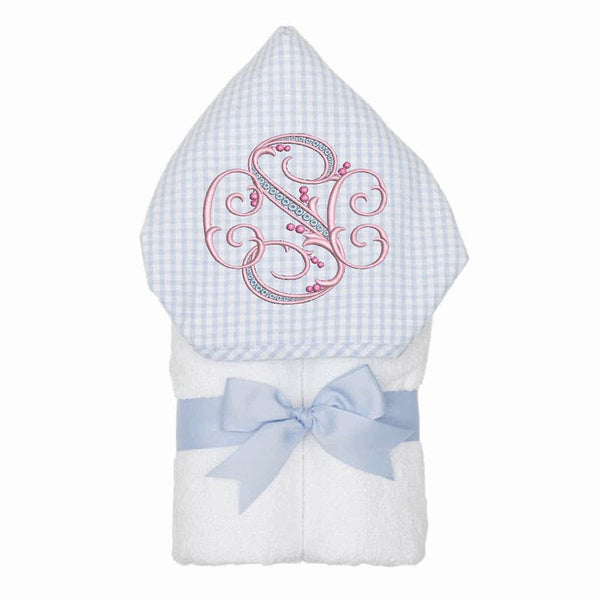 Blue Gingham Check Hooded Kid Towel