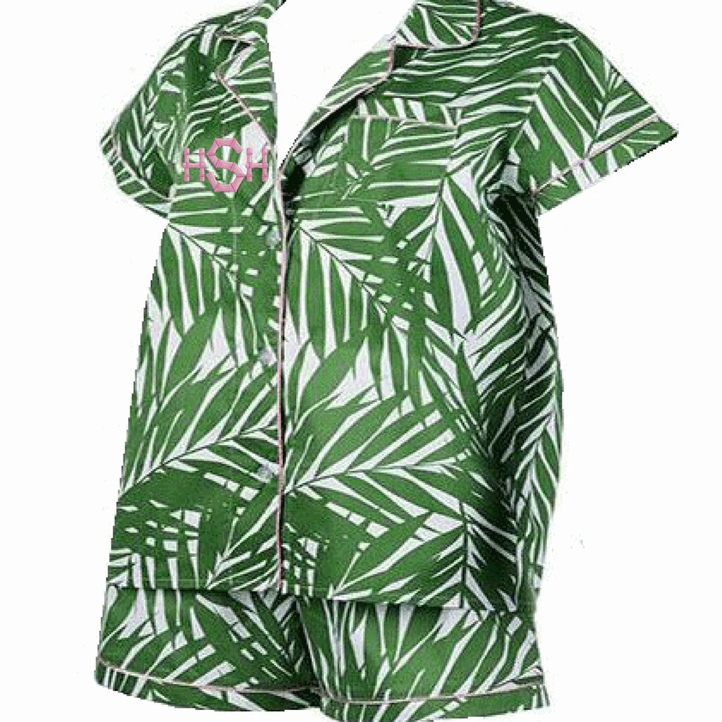 Palm Beach Pajama Short Set