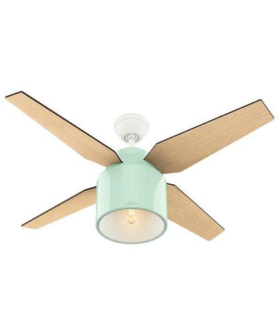 Hunter Indoor Ceiling Fan with light and remote control - Cranbrook 52 inch, Mint , 59258