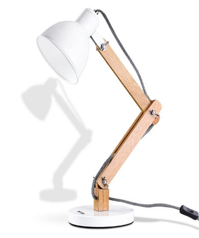 Wooden Swing Arm Desk Lamp, e26/ e27 LED Bulb Lamp, 40W