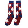 Burgundy and Navy Argyle Socks