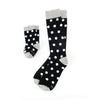 Black Socks with White Polka Dot Toddler Socks