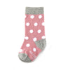 Dusty Rose with White Polka Dot Toddler Socks