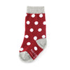Burgundy with White Polka Dot Toddler Socks