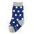 Navy with White Polka Dot Toddler Socks