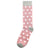 Dusty Rose with White Polka Dot Socks