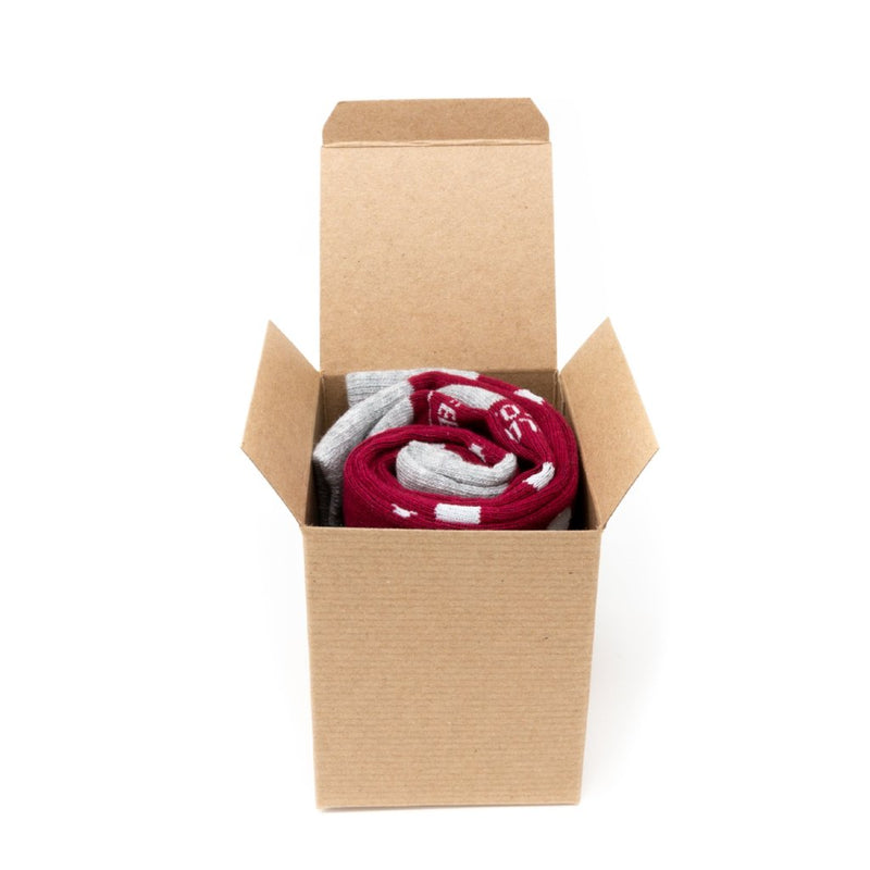 Single Sock Box with Christmas Bow | NoColdFeet