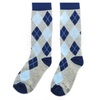 Blue and Grey Argyle Socks