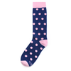 Navy Blue with Pink Polka Dot Socks