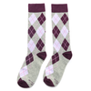 Purple and Grey Argyle Socks