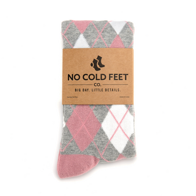 Dusty Rose Argyle Socks