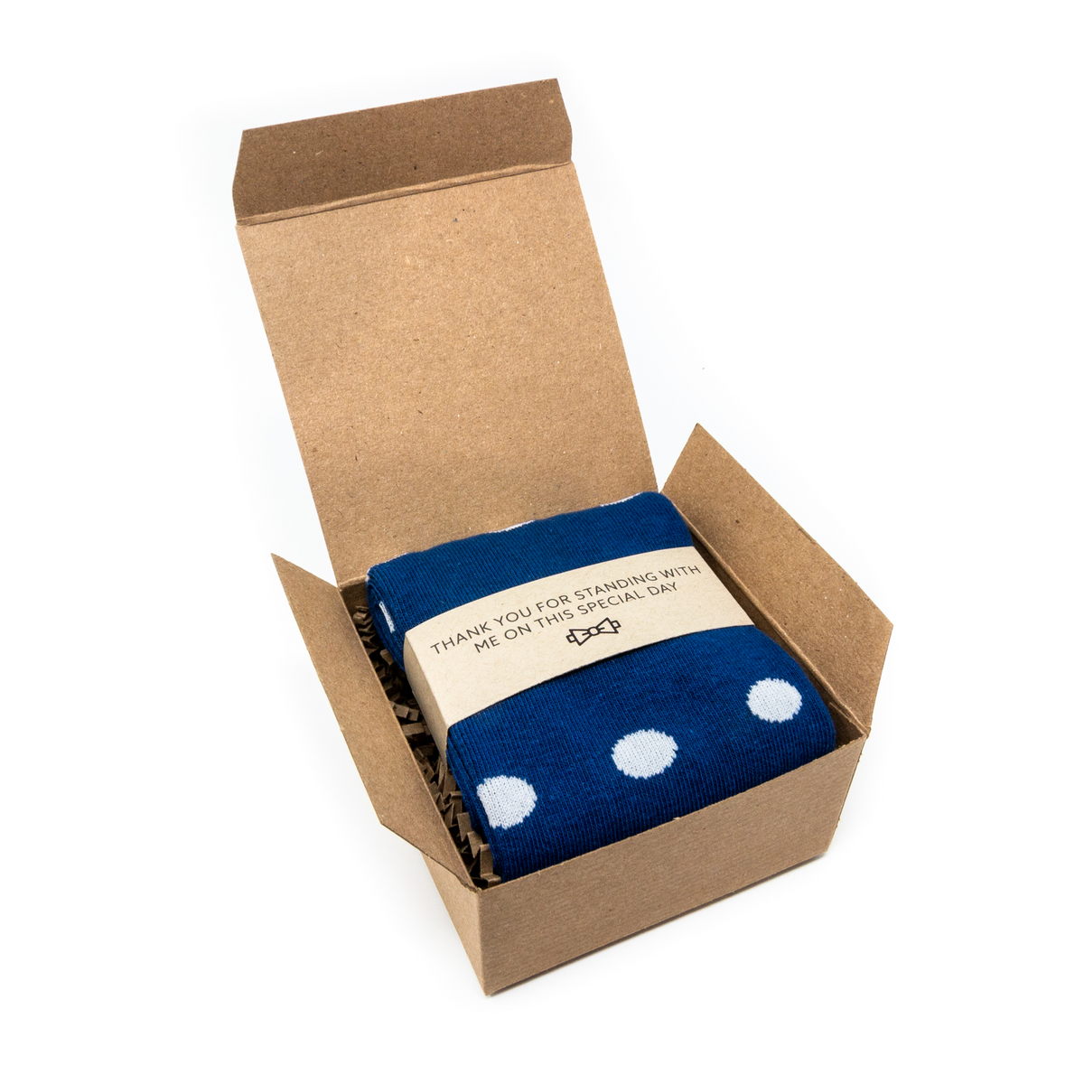 Sock in Box with Thank You Label | NoColdFeet