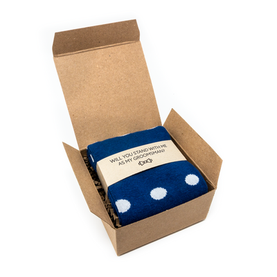 Sock in Box with Proposal Label | NoColdFeet