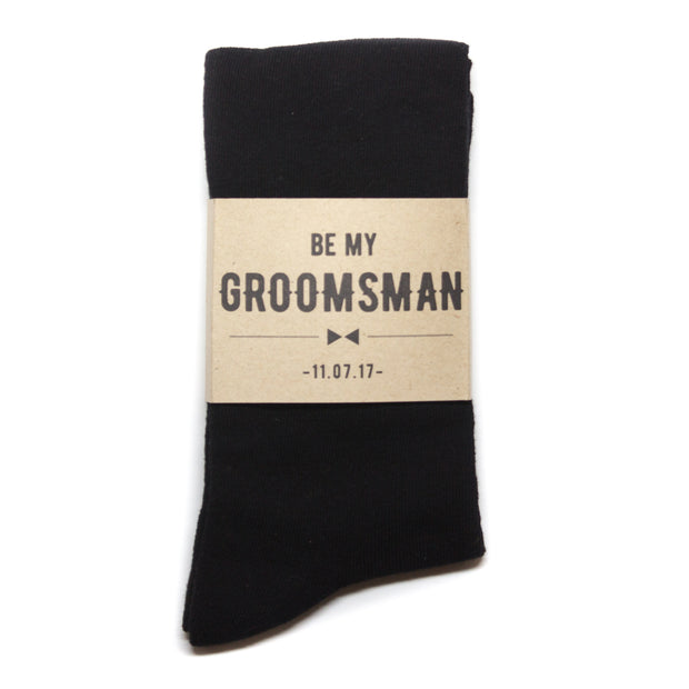 """Be My Groomsman"" Label 