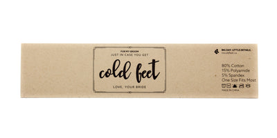"""Just in Case you get Cold Feet"" Label 