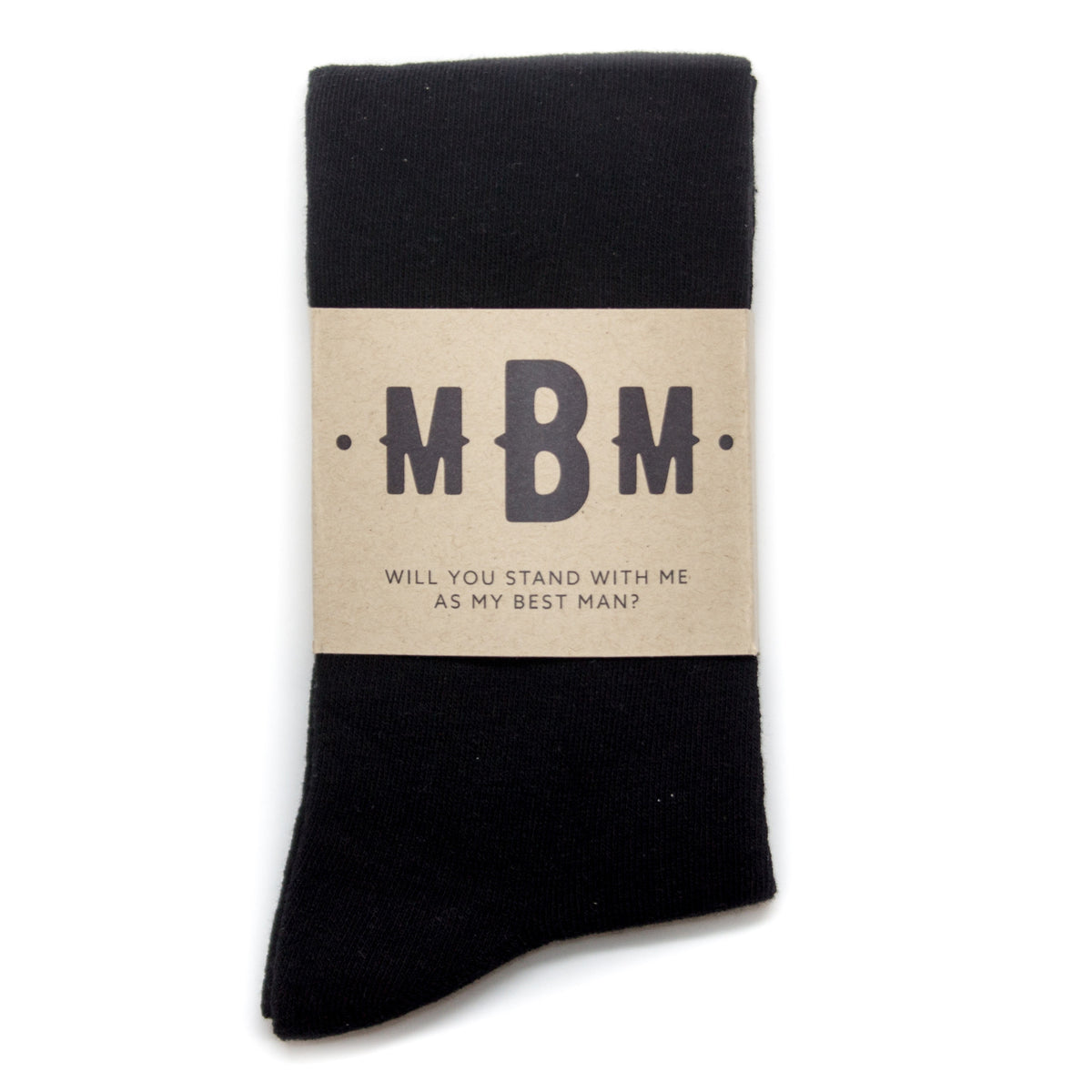 Custom Sock Label for Groomsmen | No Cold Feet Co.