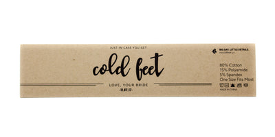 """In Case You Get Cold Feet"" Label with Wedding Date 