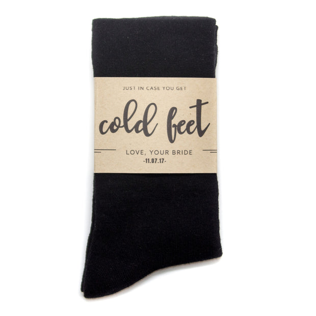 Custom Sock Label for Groom on Wedding Day | No Cold Feet Co.