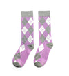 Lavender and Grey Argyle Socks